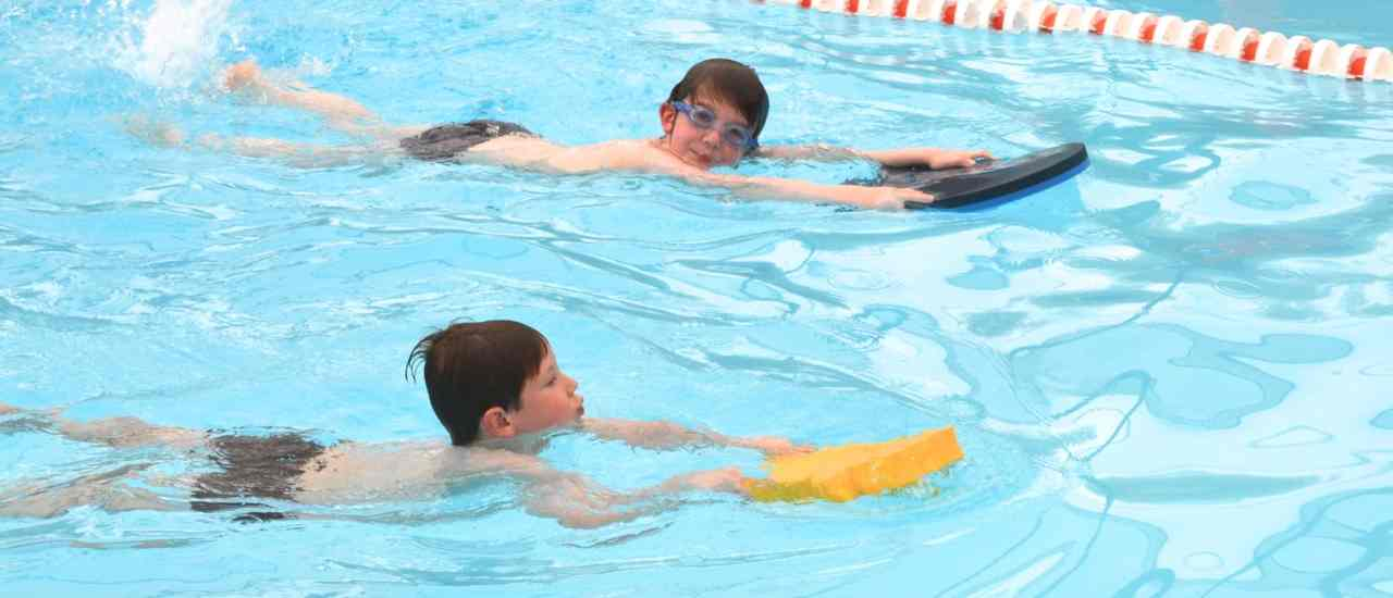 Learning to Swim at the Wendover Swimming Pool.